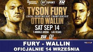 Fury - Wallin OFICJALNIE 14 września w Las Vegas