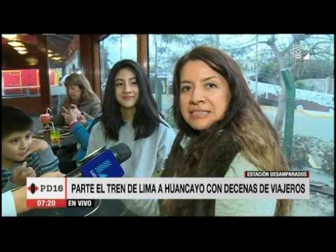 Parte el tren de Lima a Huancayo con decenas de viajeros
