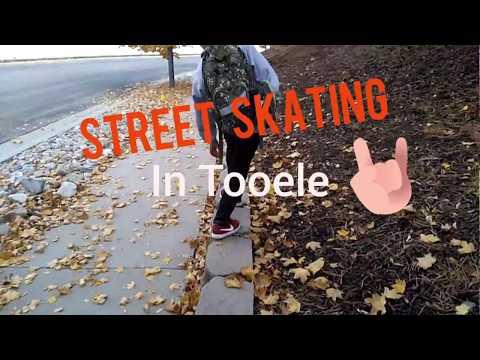 Street skating in Tooele