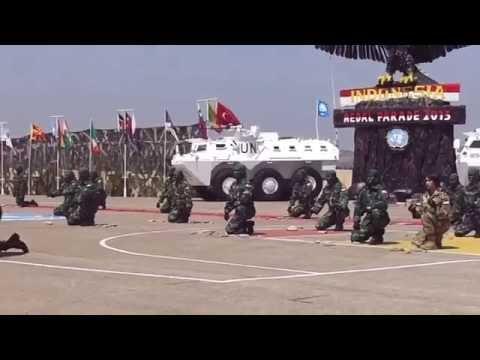 Atraksi Beladiri pada Medal Parade Pasukan Garuda di Lebanon 30 Agustus
