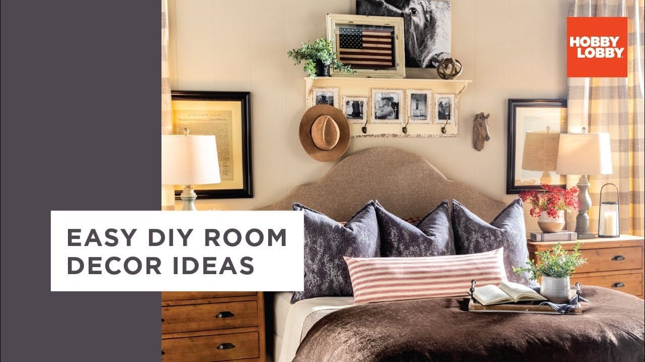 Easy Diy Room Decor Ideas Industrial Traditional Hobby Lobby Youtube