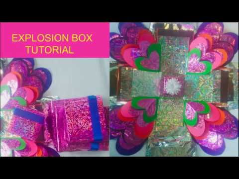 Explosion Box Tutorial |Paper craft|DIY|Explosion box for beginners