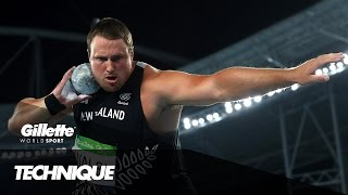 Throwing the Perfect Shot Put with Tomas Walsh | Gillette World Sport