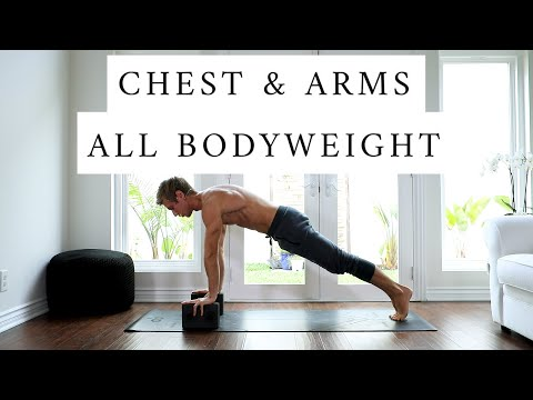 At Home Yoga Bodyweight Workout: Chest, Shoulders & Arms