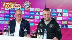 FC Bayern-Pressekonferenz mit Karl-Heinz Rummenigge und Hansi Flick | Union Berlin - FC Bayern
