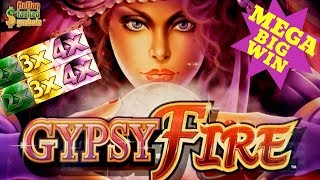 ★MEGA BIG WIN★ GYPSY FIRE Slot Machine HUGE BONUS Won | Live Konami Slot Play & SUPER BIG WIN