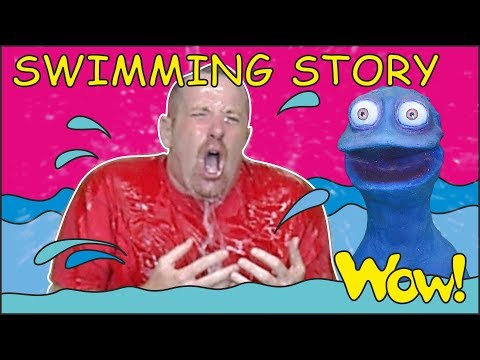 Swimming Story for Kids from Steve and Maggie with Bobby | English Speaking with Wow English TV