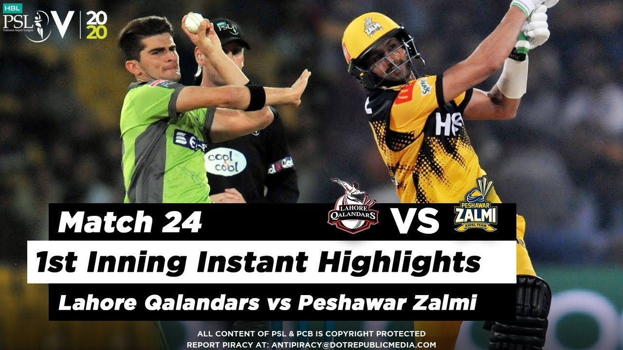 Lahore Qalandars vs Peshawar Zalmi | 1st Inning Highlights | Match 24 | 10 March | HBL PSL 2020