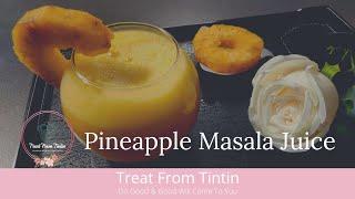 Pineapple Juice  আনরসর জস  Fruits Juice  Masala Juice  T.F.T. Recipe