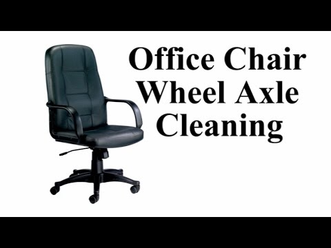 swivel chair disassembly leather desk office wheels easier axle cleaning youtube