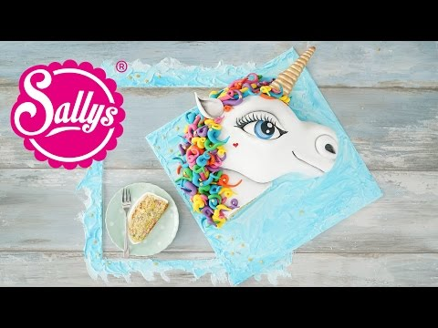 EINHORN 3D Torte / Unicorn Cake / Regenbogen Motivtorte