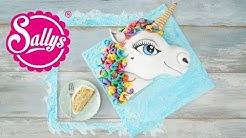 EINHORN 3D Torte / Unicorn Cake / Regenbogen Motivtorte / Sallys Welt