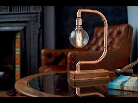 Handmade Copper Desk Lamp D Light - YouTube