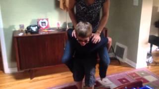 Charlie gives Julia a freakin piggy back