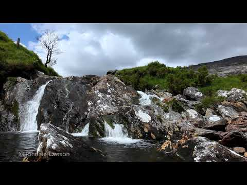 RELAX IN NATURE W/O MUSIC-Sounds of Water-Tranquil Waterfall-3D Mountain River-Flowing Dripping