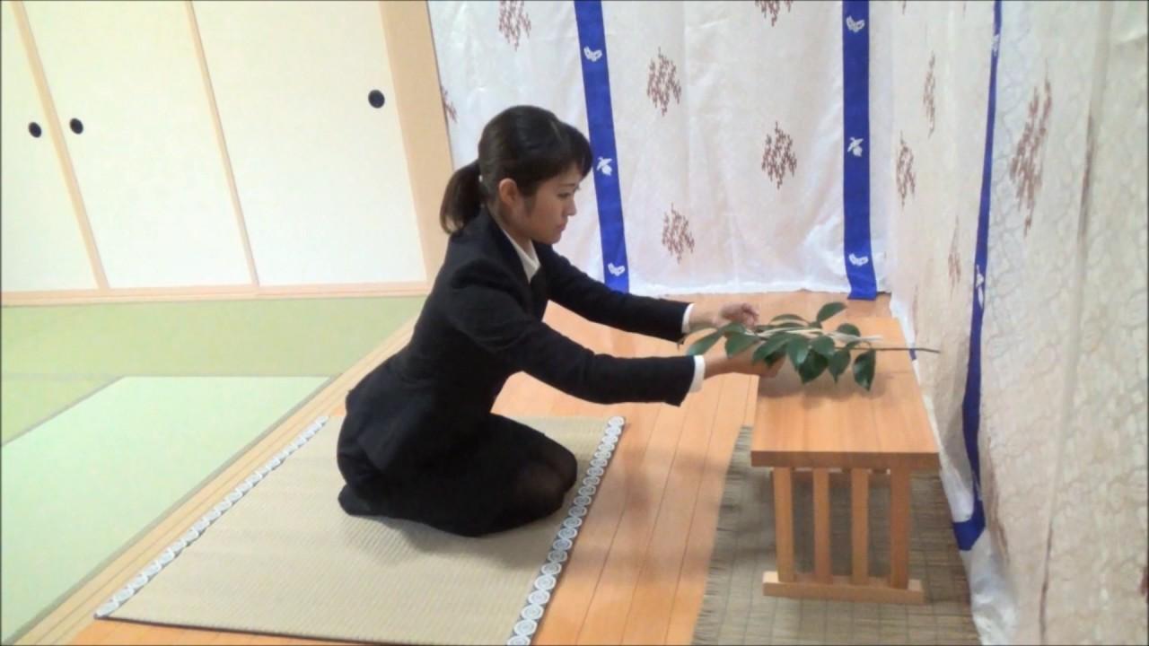 神葬祭 『玉串拝礼作法』 座礼編 (角館總鎭守 神明社) - YouTube