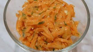 Самый простой постный салат из моркови с чесноком Carrot salad