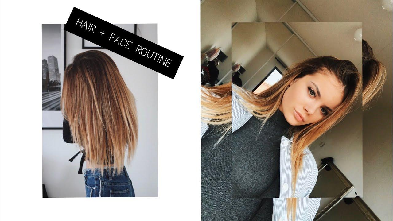 Routine cheveux, visage + anti-boutons