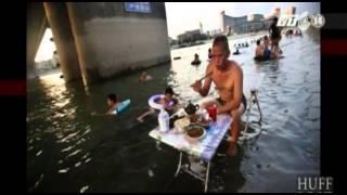 VTC14_Nắng nóng Trung Quốc nướng chín thịt trên đường