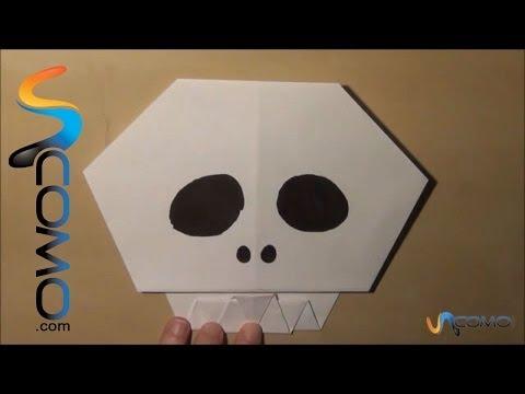 Cómo hacer una calavera con papel