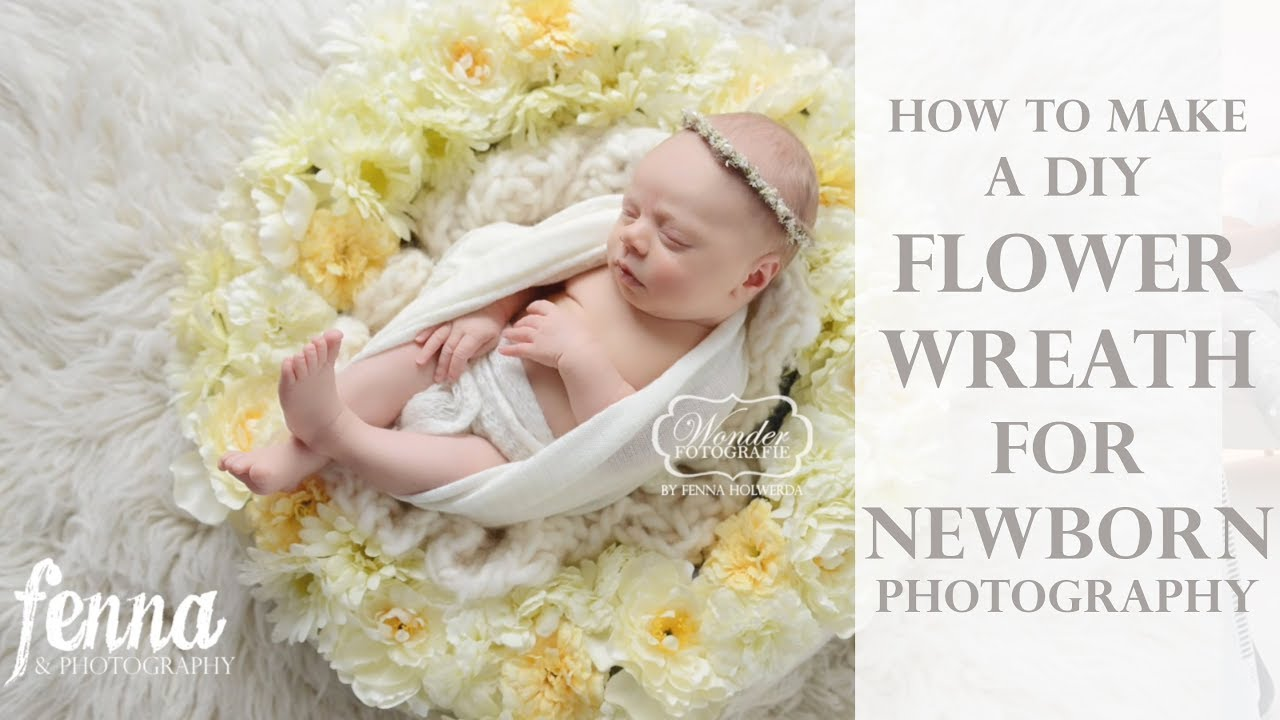 Diy Flower Wreath For Newborn Photography Baby Photoshoots