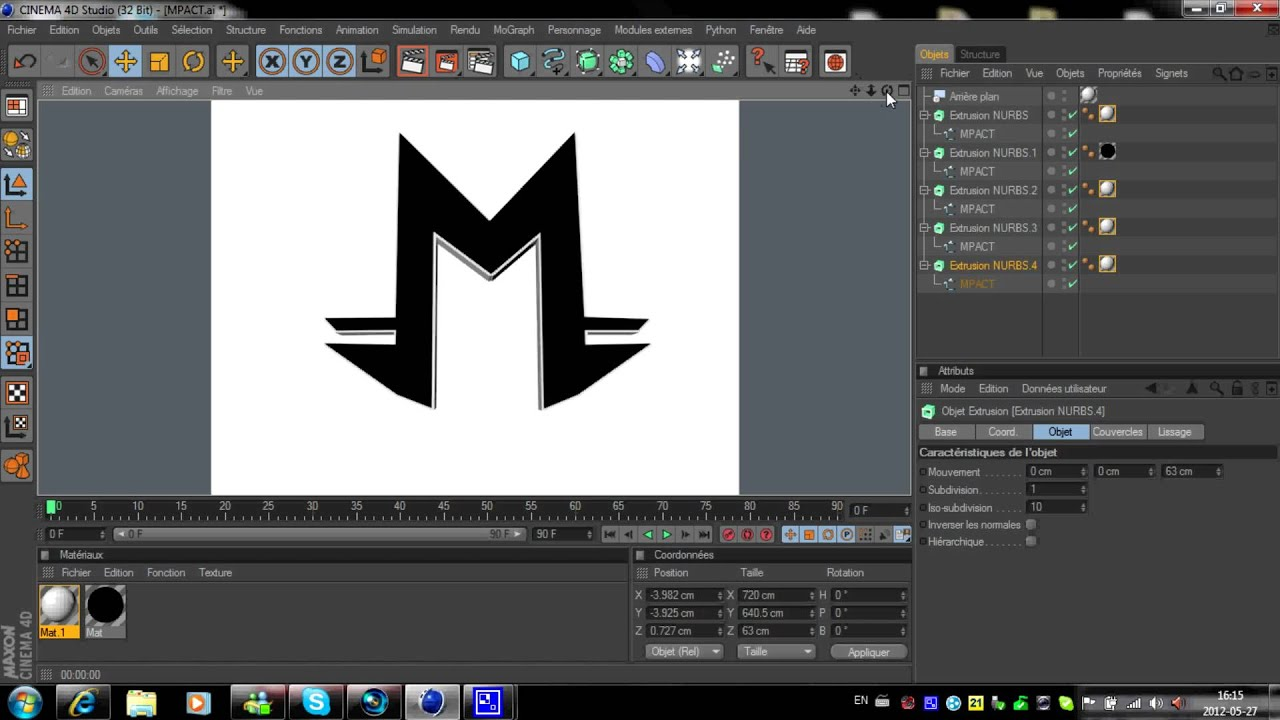 Tutoriel comment cr er un logo 3d avec photoshop et cinema 4d hd 1080p yo - Creer son dressing en 3d ...