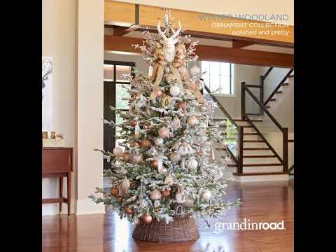 Winter Woodland Ornament Collection Grandin Road Youtube
