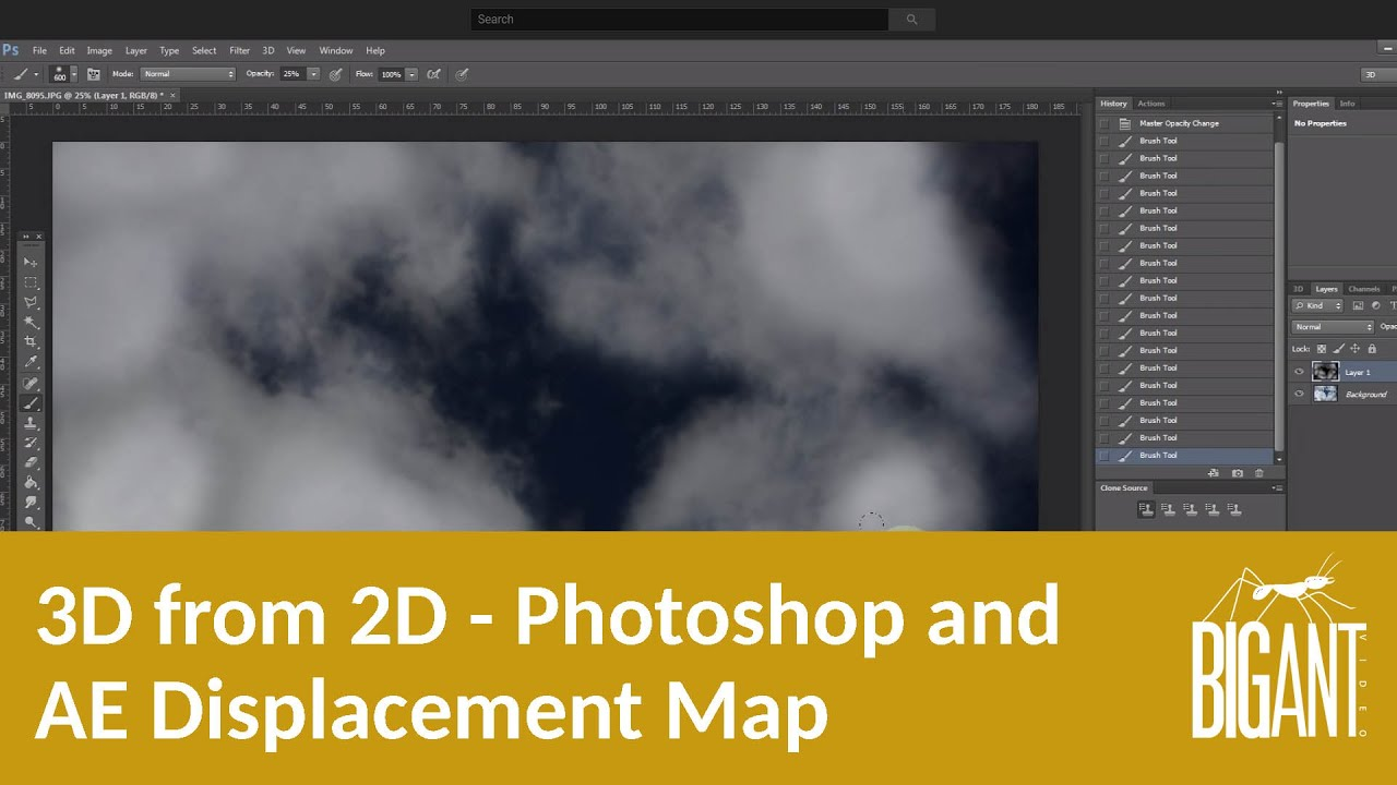3D from 2D - Photoshop & After Effects Displacement Map - YouTube Displacement Map After Effects on