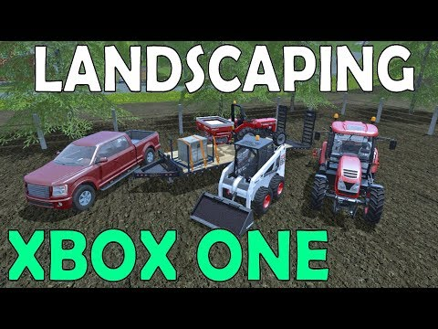 Farming Simulator 17 | Xbox One | Fertilizing Lawns | Seeding Grass | Spreading Asphalt