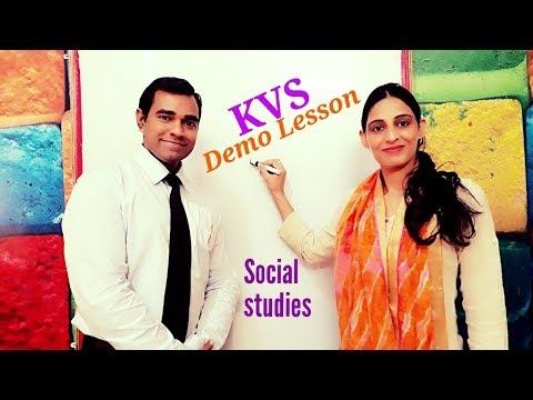 Demo class for teaching social science : Demo lessons for teachers : KVS Interview Demo