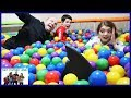 Last To Leave Ball Pit Wins - Family Fun SHARK Edition / That YouTub3 Family I Family Channel