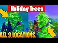 Dance in front of different Holiday Trees All Locations - 14 Days of Fortnite Challenges Guide