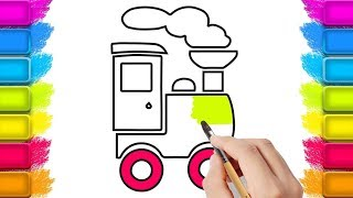 Learn colors for Kids with Train Drawing