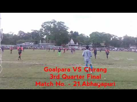 Goalpara Vs Chirang Football tournament at Abhayapuri,Assam | 3rd quarter final | MATCH NO.  21