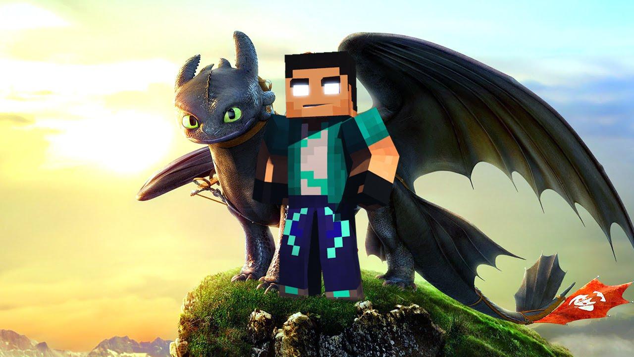 Minecraft Mod - Como Treinar seu DRAGÃO!! - How Train Your