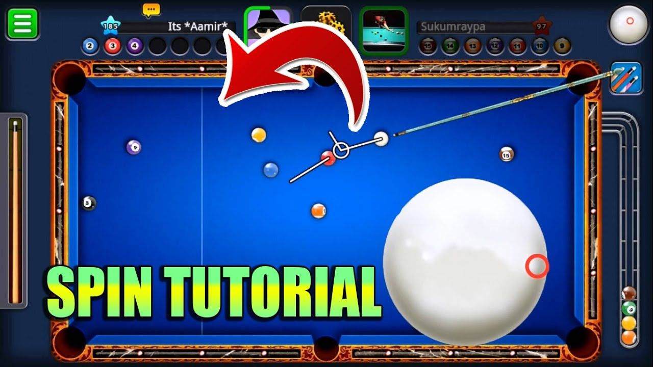 Sims 3 Pool Rund Drehen 8 Ball Pool Spin Tutorial How To Use Spin This Will Change The Way You Play