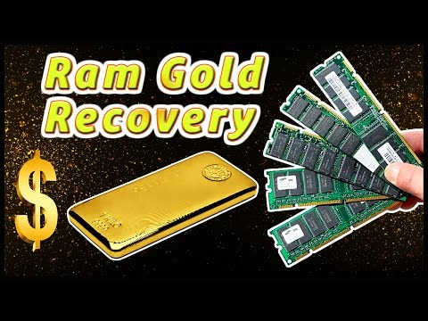 ♻Ram Recycling. How much gold in rams. Ram gold Recovery.
