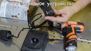 Аккумуляторный шуруповерт INTERTOOL WT-0322, обзор