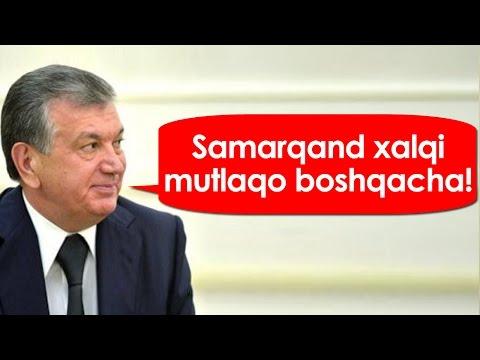 """Mirziyoyev - """"Samarqand xalqi MUTLAQO BOSHQACHA!"""""""