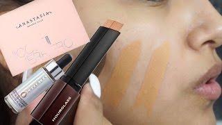 ABH Nicole Guerriero Glow Kit , Cover FX Halo , Hourglass Vanish Foundation Stick Honey TUTORIAL