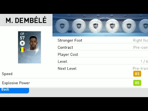 Pes Mobile 2019 - M Dembele Fastest White Ball Player 100% Scout Combination
