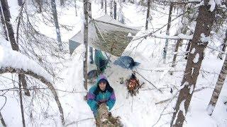 видео На лыжах в лес за грибами