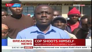 A police officer in Njoro, Nakuru county shoots wife then himself