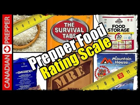 The Prepper and Survival Food Rating Scale | Canadian Prepper
