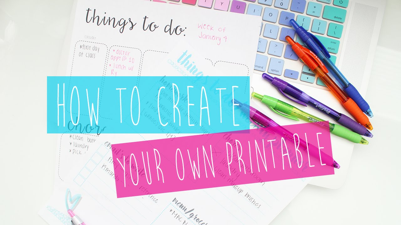 Create Your Own Printable Planner: Tips & Tricks ♡ - YouTube
