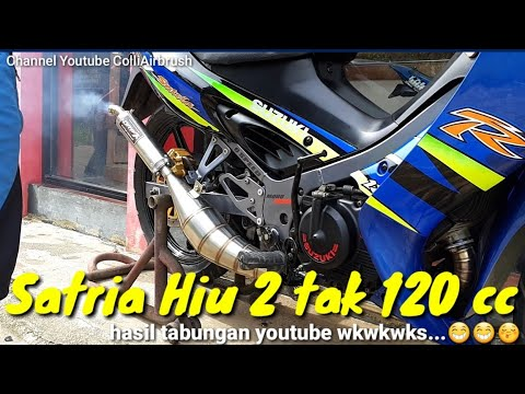 Review Cat Satria Hiu 2 tak 120 cc milik sendiri