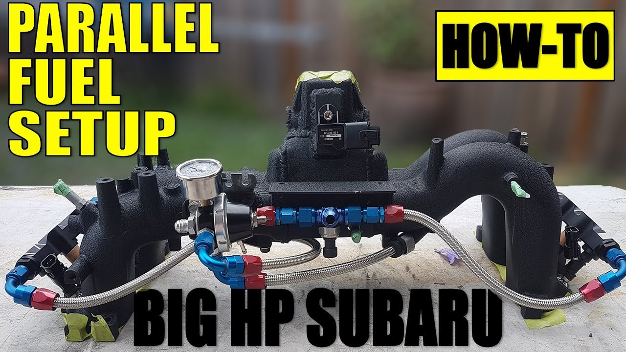 HOW TO: BIG POWER SUBARU PARALLEL FUEL SETUP   BUILT COSWORTH EJ257