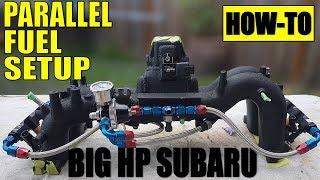 HOW TO: BIG POWER SUBARU PARALLEL FUEL SETUP | BUILT COSWORTH EJ257