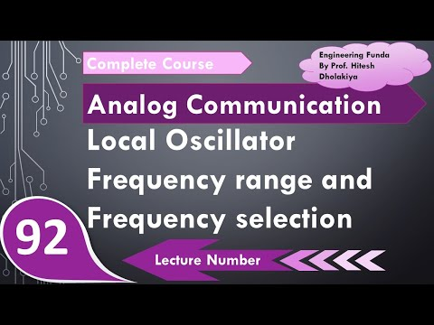 Local Oscillator Frequency range & frequency selection in Analog  Communication by Engineering Funda