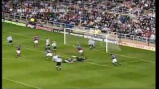 Newcastle 4-3 Aston Villa 1996-97 (Yorke hat-trick)